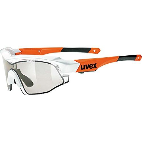 Uvex Variotronic s Sunglasses, White Orange Frame, Smoke Lenses, One - Uvex Sunglasses Photochromic