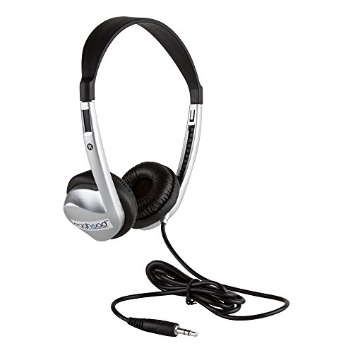 (Egghead Stereo School Headphone with Leatherette Ear Cushion, Black, EGG-IAG-1008-SO)