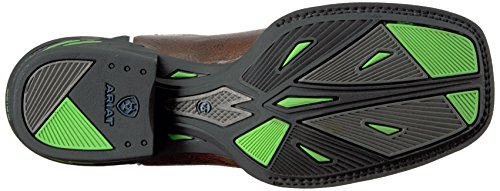 Ariat Womens Catalyst Prime Western Cowboy Boot Brush Country Brown/Bright Lime 9DA17