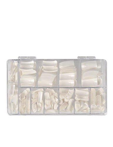 Tips para Uñas de Gel Acrilicas Artificiales Caja, Tips D Blanco francés, 600 piezas