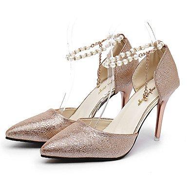 Aiguille Confort Or amp; ggx Femme Polyuréthane Argent Café Talon Chaussures Plus À Printemps Silver Talons Lvyuan 12 Cm ZvXzqwv