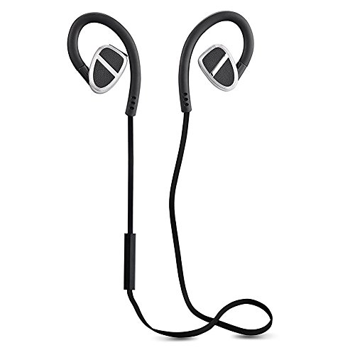 Sweat-proof Wireless In-ear Sports Earbuds Stereo Built-in Micro Headphone for Sports Running Hands-free Calling (aptX, Bluetooth 4.0, CVC 6.0 Noise Canceling, 8 Hours Play Time) by WMW