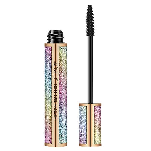 Waterproof Mascara, Natural 4D Silk Fiber Lash Mascara, Lengthening and Thick, Smudge-Proof Eyelashes, Long Lasting Queen Mascara, Dramatic Extension, Hypoallergenic Formula