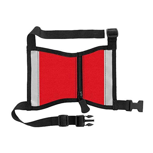 Red Sit Stay Cape Style Vest with Pockets- Service Dog, Therapy Dog or Emotional Support Dog, Reflective, Hand Sewn in USA (Red, Tiny)