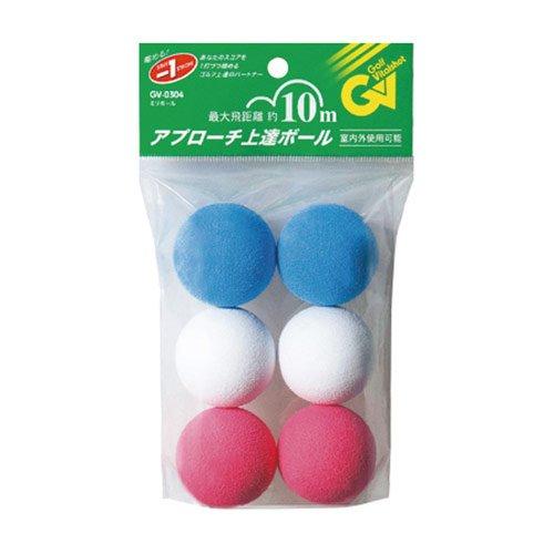 Tabata Soft Sponge Practice Golf Balls, 6 Balls/pack, GV-0304