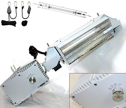 9TRADING 1000 watt Digital Ballast Open Phantom Style Reflector MH HPS Grow Light System (Phantom 400 Watt Ballast)