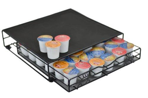 UPC 818947018282, Keurig K-cup Storage Drawer Coffee Holder for 36 K-Cups, Black