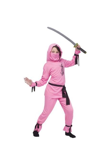 Amazon.com: Halloween FX Pink Ninja Child Costume - Medium ...