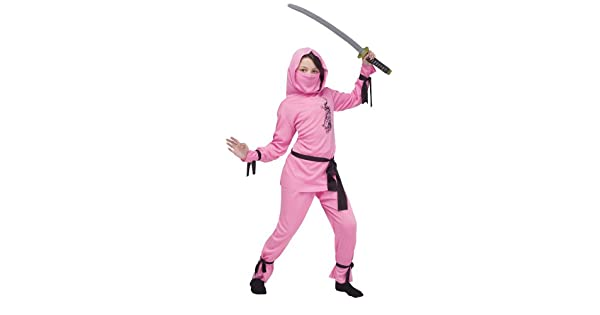 Amazon.com: Disfraz de ninja rosa de Halloween, talla ...