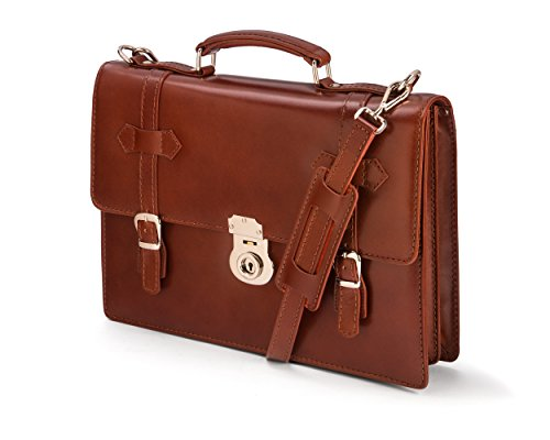 (SAGEBROWN Light Tan Vintage Cambridge Briefcase)