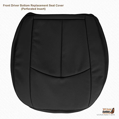 (US Auto Nation Mercedes Benz E350 Driver Bottom Perforated Leather Seat Cover Black)