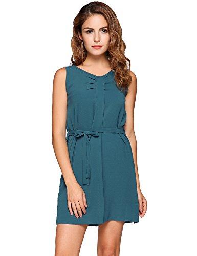 Buy belted chiffon shift dress - 8