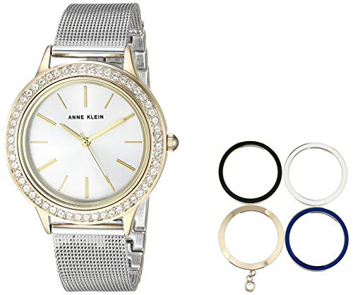Anne Klein Women's AK/3167TTST Two-Tone Bracelet Watch and Interchangeable Bezel Set