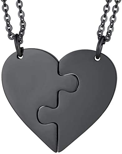 silver unisex jewelry chain women/'s gift gift for him gift friendship 304 stainless steel Heart pendant necklace minimalist