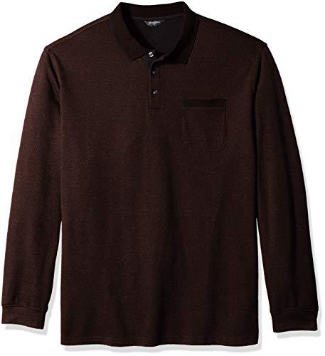 Van Heusen Men's Big and Tall Flex Jaspe Polo Shirt, Burgundy Andorra, 2X-Large Big
