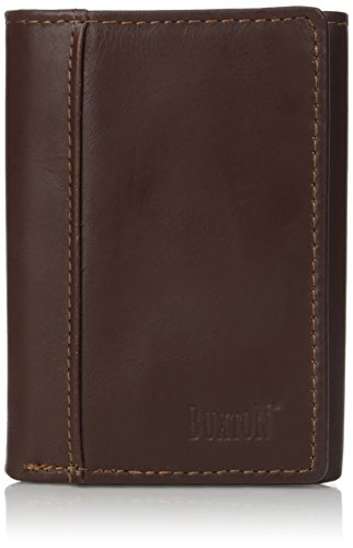 Buxton Men's Sandokan Threefold Wallet, Brown, One Size (Buxton Mountaineer Credit Card Billfold)