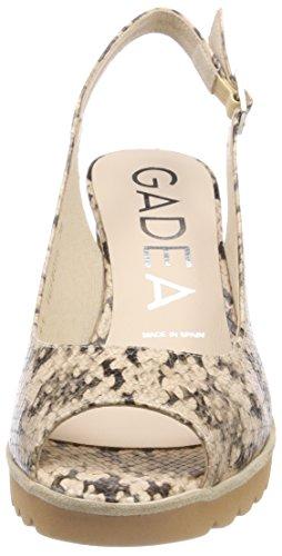 Whips Candy Punta Mujer de Zapatos Tacón 40929 Beige para con Candy Gadea Abierta qnp4wvOx77