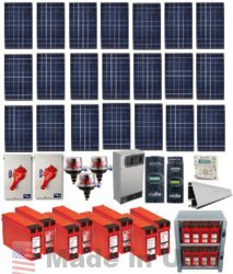 Grid-tied 5.775kw Residential Home Solar System With Battery Backup
