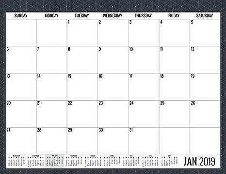 Calendario de escritorio mensual 2019, papel resistente a la ...
