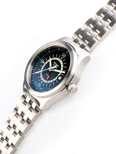 traser H3 herrklocka P59 Aurora GMT blått stål 107036