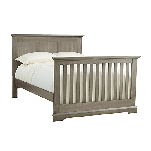 Full Size Conversion Kit Bed Rails for Munire's Kingsley Baby Jackson Crib - Ash Gray by CC KITS (Image #3)