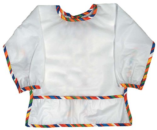 Raindrops Long Sleeve Water Repellant Toddler Bib-Stripe, Multi (Stripes Toddler Bib)