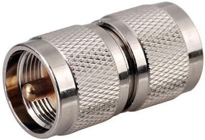 DHT Electronics RF Coaxial coaxial adaptador UHF macho a macho conector PL-259