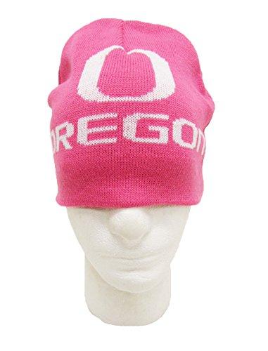 NCAA Oregon Ducks Jacquard Knit Hat, Pink, One Size