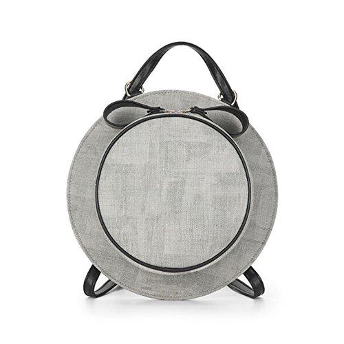 Tong Yue - Bolso mochila  para mujer, gris oscuro (gris) - TYUK0482-5 gris claro