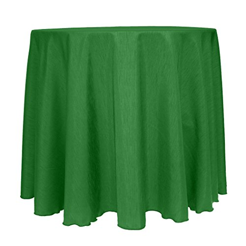 - Ultimate Textile -2 Pack- Reversible Shantung Satin - Majestic 114-Inch Round Tablecloth, Emerald Green