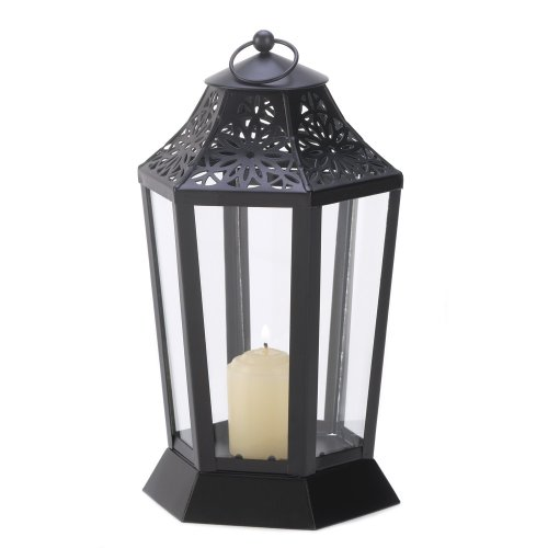 Gifts & Decor 57071617 Calming Aura Candle Lantern, Black (Aura Furniture Design)