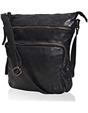 Wise Owl Accessories Women's Leather Crossbody Purses and Handbags for-Premium Crossover Bag Over the Shoulders
