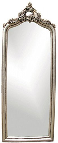 Espejo de pared Barroco aspecto de plata 45 x 118 Espejo ...