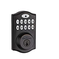 The SmartCode touchpad smart lock with Home Connect technology enables the lock to wirelessly communicate with other devices in home. The lock allows the user (through a web enabled device) to remotely check the door lock status, lock or unlo...
