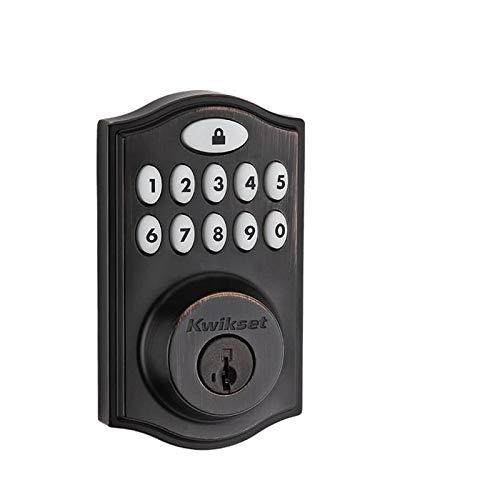 Kwikset 99140-003 914 Z-Wave SmartCode Electronic UL Deadbolt, Works with Alexa via SmartThings, Wink, or Iris featuring SmartKey in Venetian - Entry Keyless Kwikset