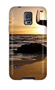 Rugged Skin Case Cover For Galaxy S5- Eco-friendly Packaging(the Beach Boys )