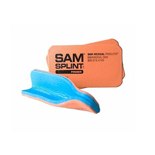 (SAM® FINGER SPLINT (ORANGE/BLUE, 3 PACK))