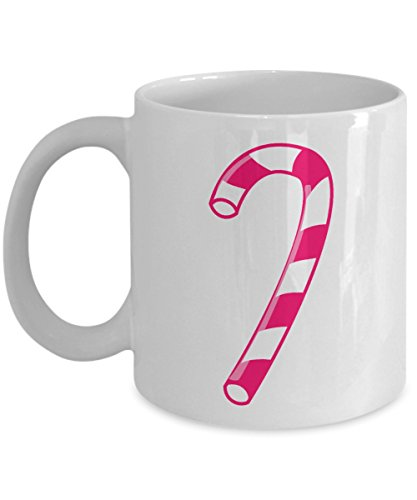 Xmas Mug - Candy Cane - Funny Secret Santa, Kris Kringle, or Christmas Holiday Gift! - Ceramic Coffee or Tea Cup 11oz by ProtoPixie