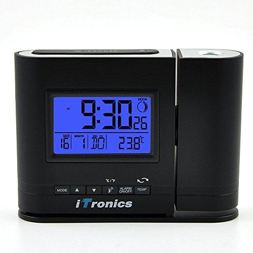 iTronics IR305 Funk Projektionswecker Digital Tischuhr mit Bewegungssensor und Temperaturanzeige
