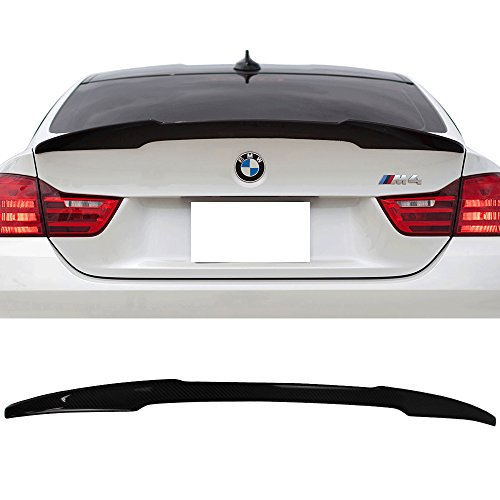 (Trunk Spoiler Fits 2014-2017 BMW 4-Series F32 | M4 Style Carbon Fiber (CF) Rear Tail Lip Deck Boot Wing by IKON MOTORSPORTS | 2015 2016 )