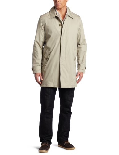 Tommy Hilfiger Men's Trench Coat, Stone, Medium