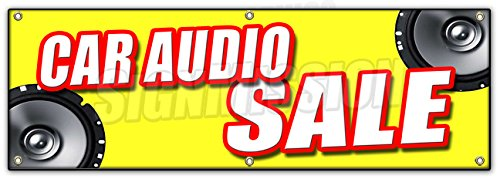 72 CAR AUDIO SALE BANNER SIGN mps speakers stereo installati