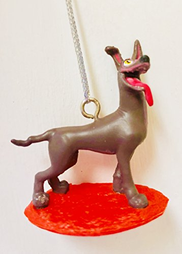 Disney Coco Dante Dog Holiday Tree Ornament 1.5 Inch PVC Figure Figurine Cake Topper Party Favor Toy