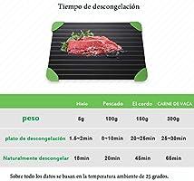 Sunfan Bandeja de descongelación rápida para Alimentos congelados ...