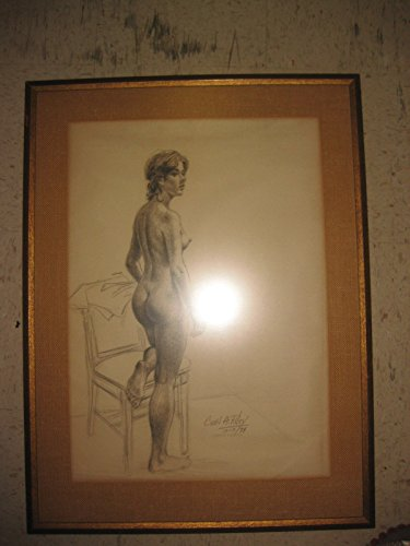 Nude drawing, signed by listed artist - Cecil A Riley, United Kingdom, 1974 from Unknown
