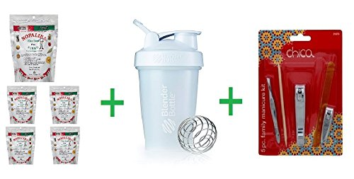 Nopalina Flax Seed Plus Fiber 4 OZ (Pack of 5) + (Power S...