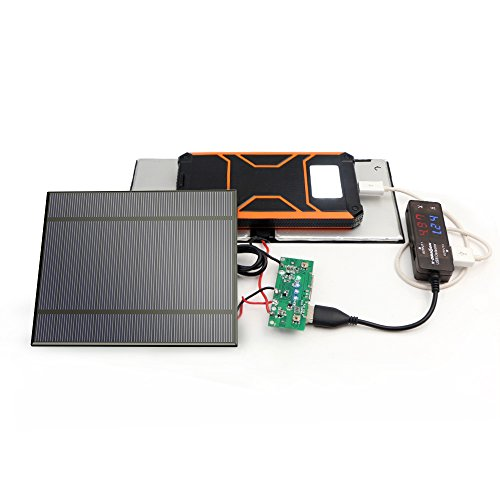 Solar Panel Only ALLPOWERS 2 Pieces 2.5W 5V//500mAh Solar Panel DIY Battery Charger Kit Mini Encapsulated Solar Cell Epoxy for Battery Power LED 130x150mm