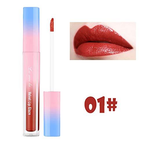 Haluoo Liquid Lipstick Lip Gloss,Waterproof Long Lasting Durable Moisturizer Lipgloss Non-Stick Cup Liquid Lipstick Beauty Makeup Comestic (# 01)
