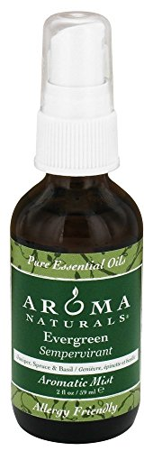 Aroma Naturals Holiday Candle (Aroma Naturals Essential Oil Aromatic Mist Spray, Evergreen Holiday, 2 Ounce)