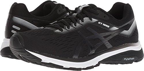 ASICS 1012A030 Women's GT-1000 7 Running Shoe, Black/White - 9 B(M) US